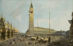 Giovanni Antonio Canal, detto Canaletto, Veduta di Venezia con Piazza San Marco e la Piazzetta, 1740 circa