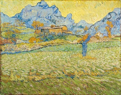 Vincent van Gogh, Campi di grano in un paesaggio collinare, 1889