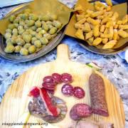 Piatti tipici: i cremini, le olive all'ascolana ed i formaggi e salumi locali