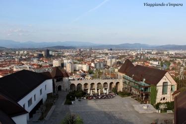 La vista dal Castello di Lubiana