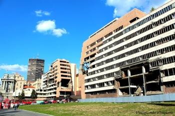 palazzi decadenti di Belgrado